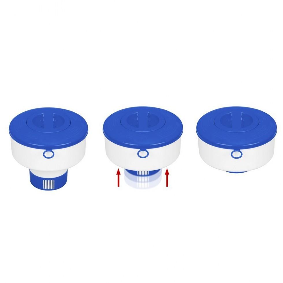 Intex dispenser galleggiante per cloro in pastiglie for Accessori per piscine intex