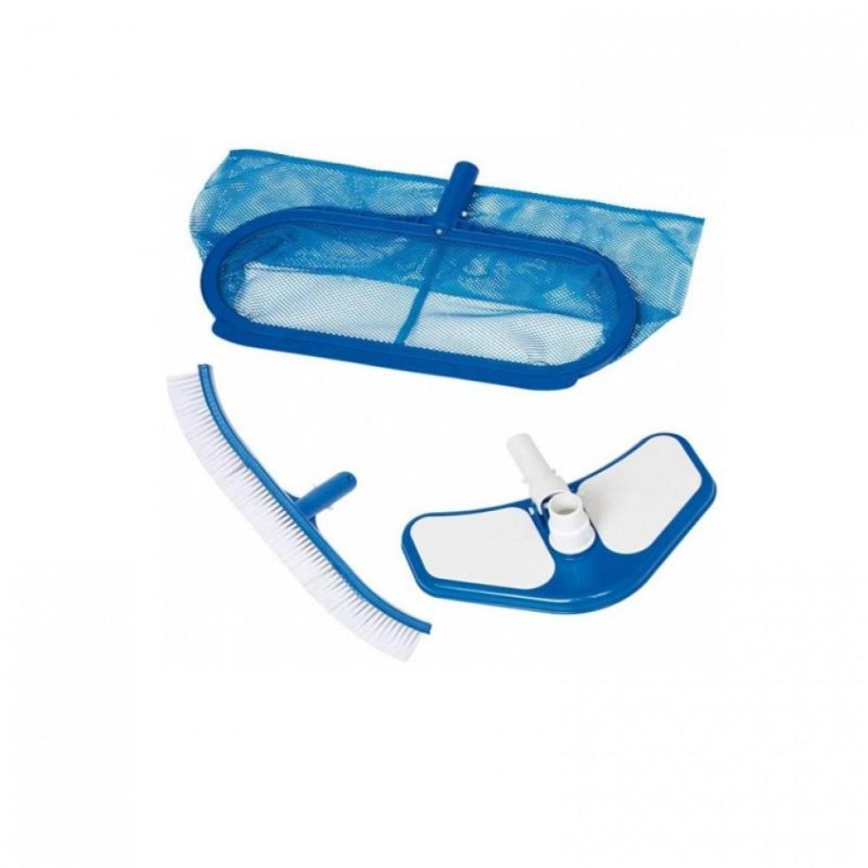 Intex 29057 set di pulizia per piscina deluxe retina a for Accessori per piscine intex