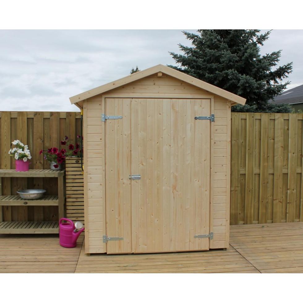 Casetta in legno ricovero attrezzi nina x 120 con - Casette in legno per giardino ...