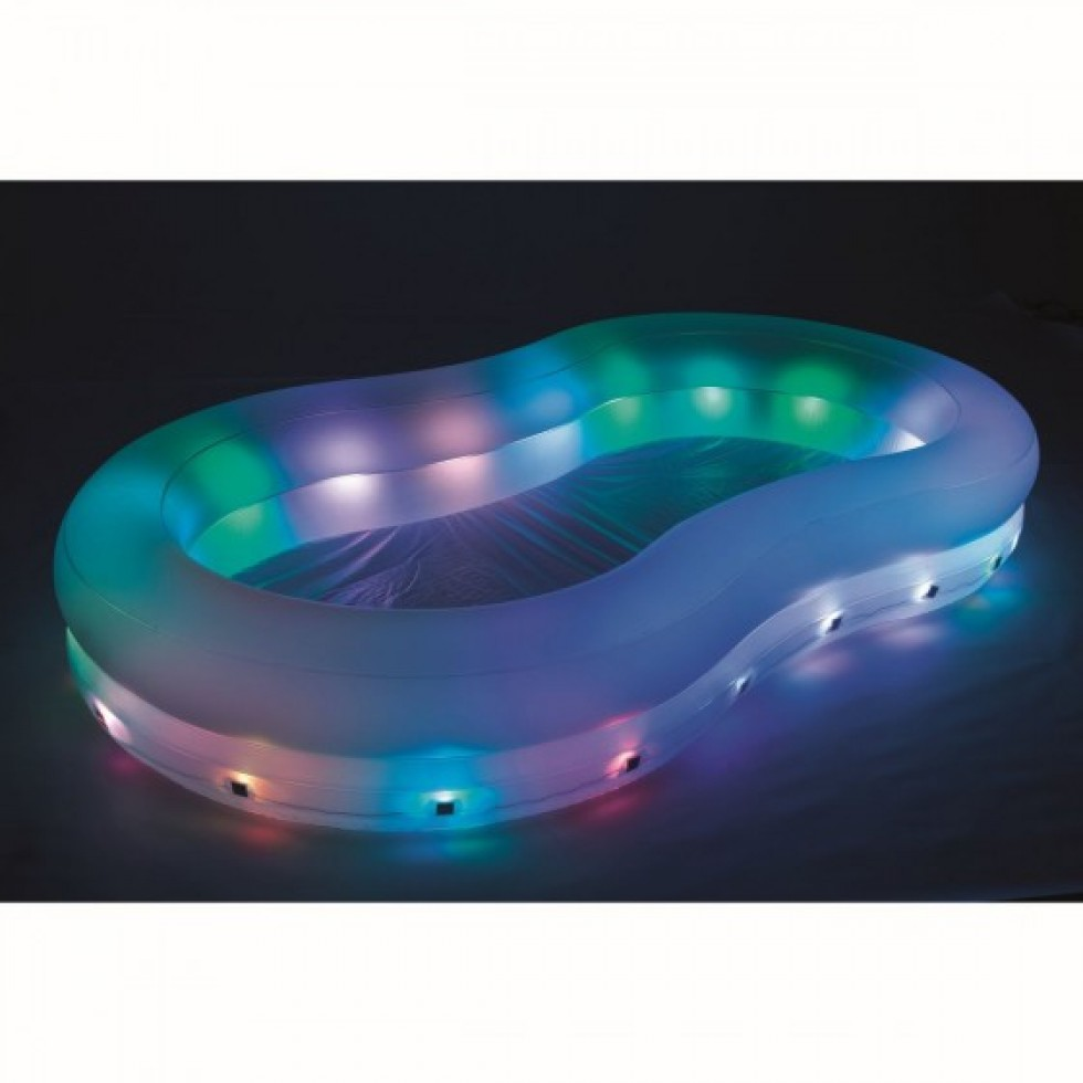 Bestway piscina family color wave con luci a led intermittenti - Luci per piscina ...