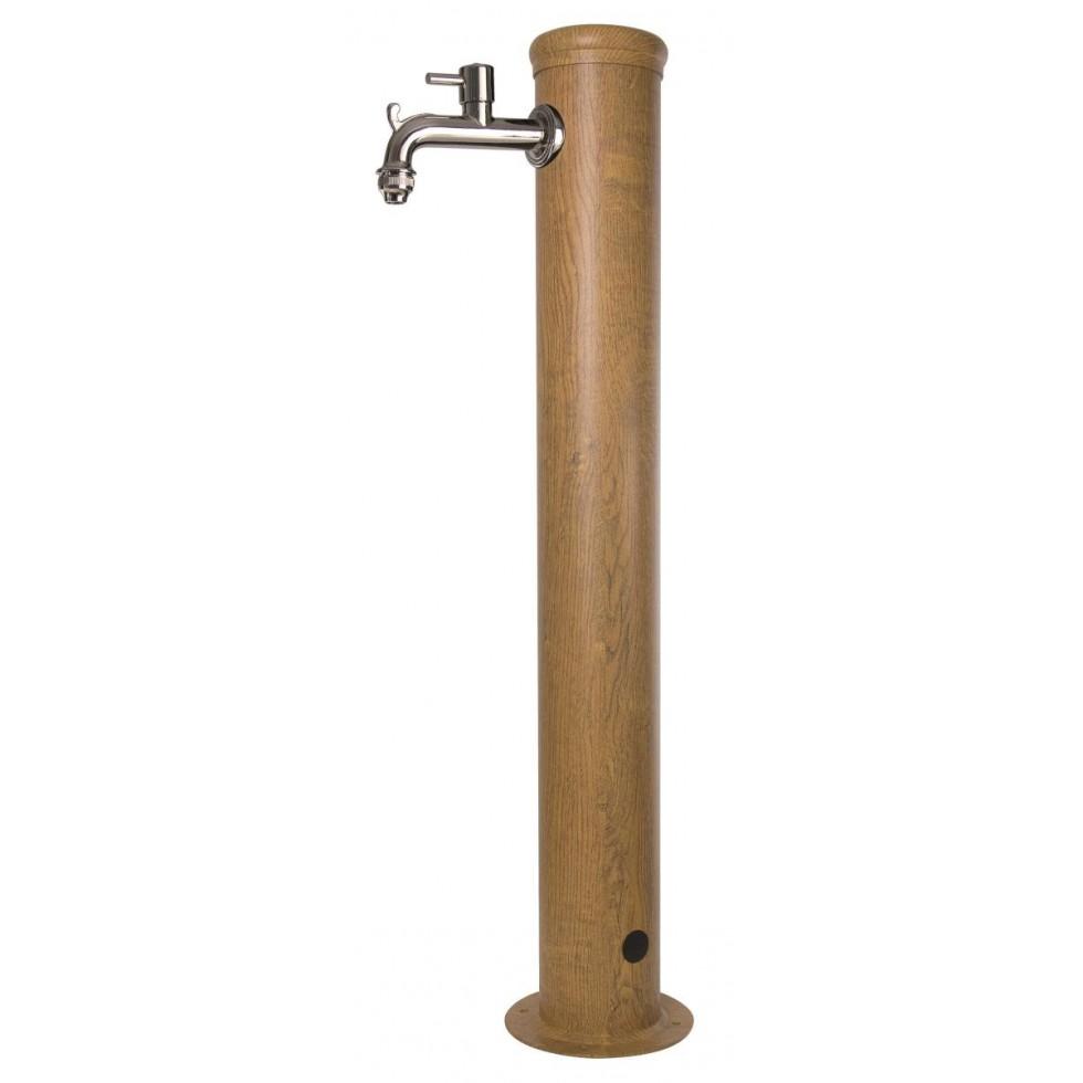 Bel fer fontana da giardino in ferro verniciato effetto legno for Fontane in legno