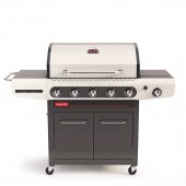 Barbecook - BARBECUE A GAS SIESTA 512 CREME - 4 FUOCHI CON CAPPA FORNO E FORNELLO LATERALE
