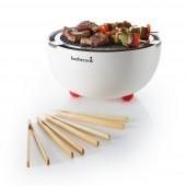 Barbecook Joya - Barbecue a carbonella da tavolo, in starter pack,diametro 30 cm, colore: bianco