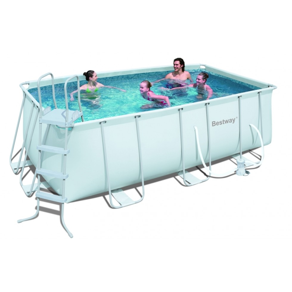 Bestway piscina rettangolare power steel frame x for Bestway piscine