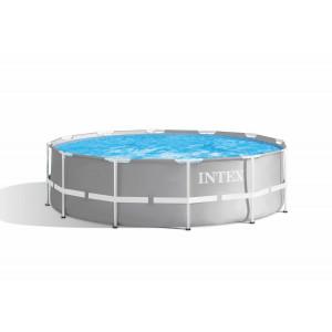 INTEX PISCINA ROTONDA PRISMA FRAME 366X99 H CON STRUTTURA cod.26716