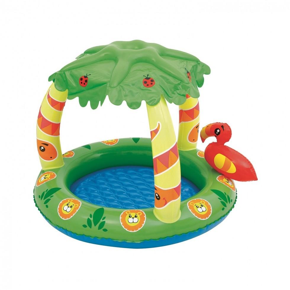bestway piscina baby con parasole mod jungla. Black Bedroom Furniture Sets. Home Design Ideas
