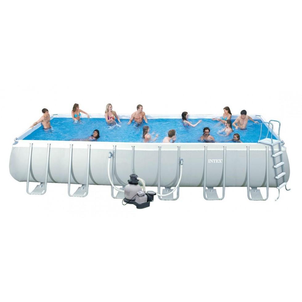 Intex piscina rettangolare ultra frame 549x274x132 h con for Intex piscine