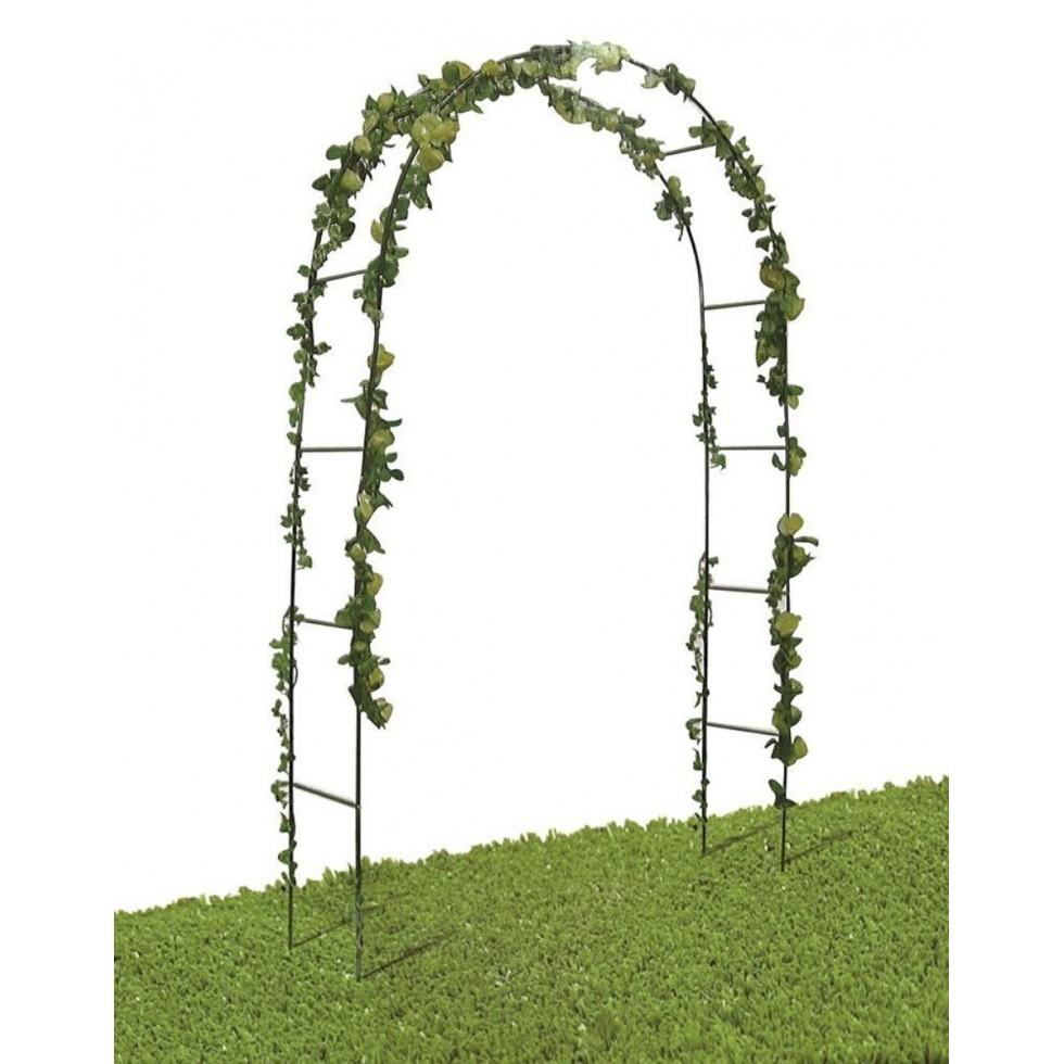 Arco trionfo in ferro x rampicanti 240x140x38 for Arco decorativo giardino