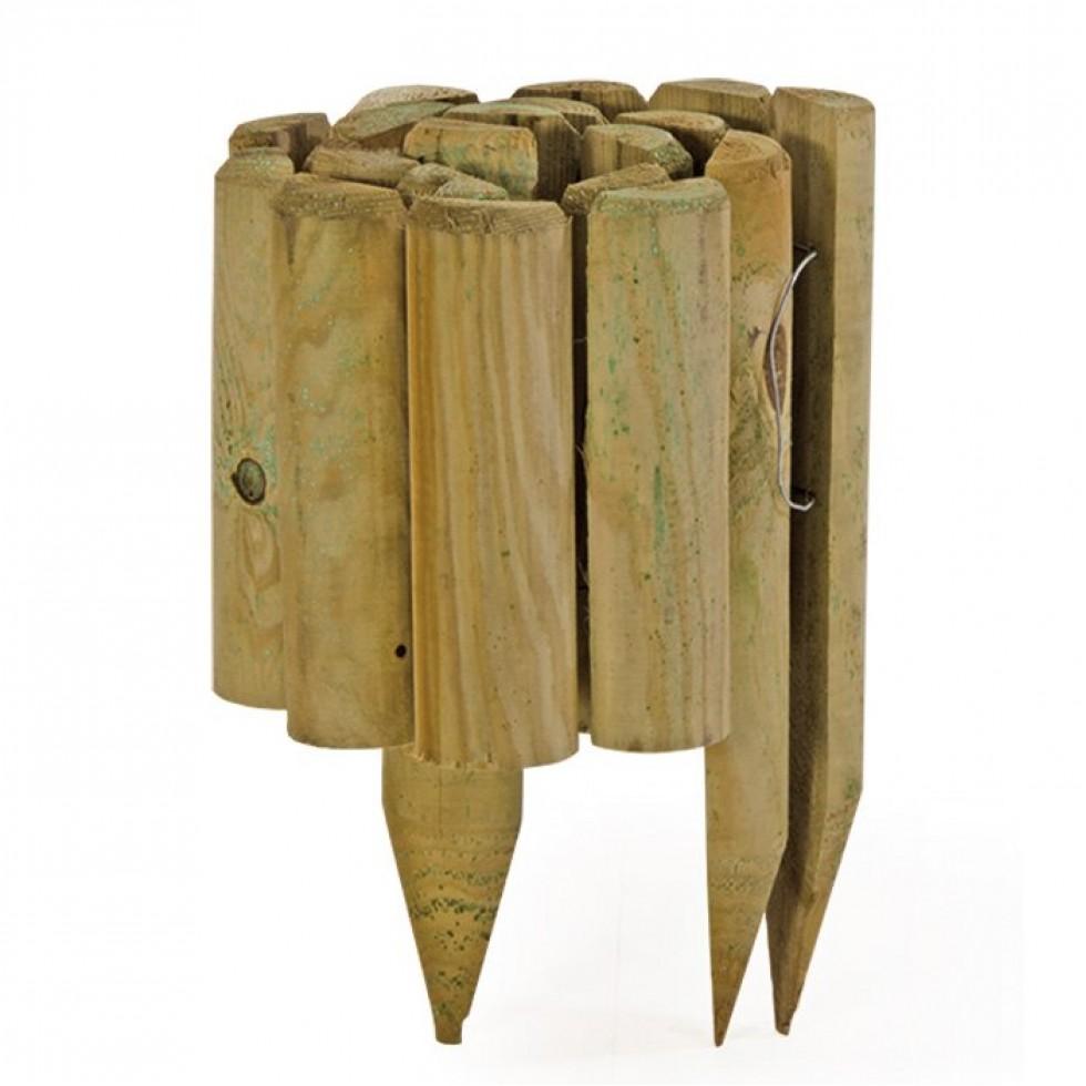 Recinzione legno rotolo 1100x200 350 impregnata for Bordura leroy merlin