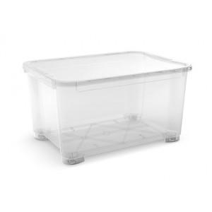 CONTENITORE T-BOX XXL TRASPARENTE CON RUOTE E COPERCHIO