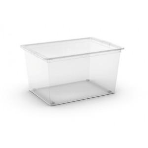 CONTENITORE C-BOX XL TRASPARENTE CON RUOTE E COPERCHIO