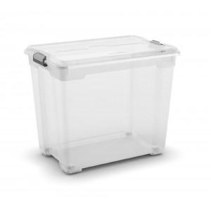 CONTENITORE MOOVER BOX XXL TRASPARENTE CON RUOTE E COPERCHIO