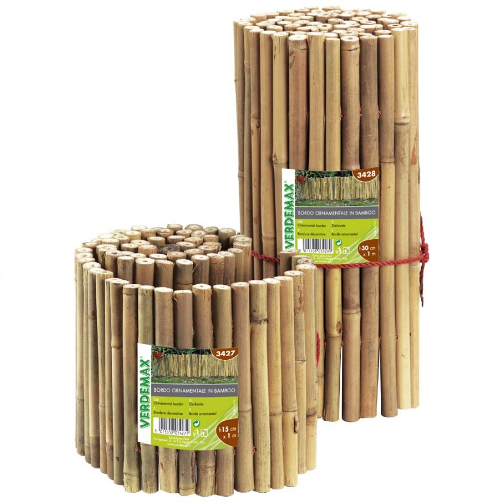 Bordura ornamentale in bamboo per recinzioni lunghezza for Aiuole in legno