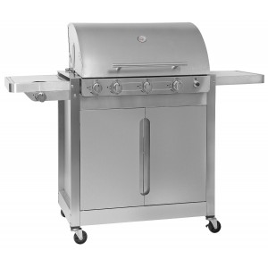 Barbecook - BARBECUE A GAS BRAHMA 5.2 INOX 4 FUOCHI CON FORNELLO LATERALE