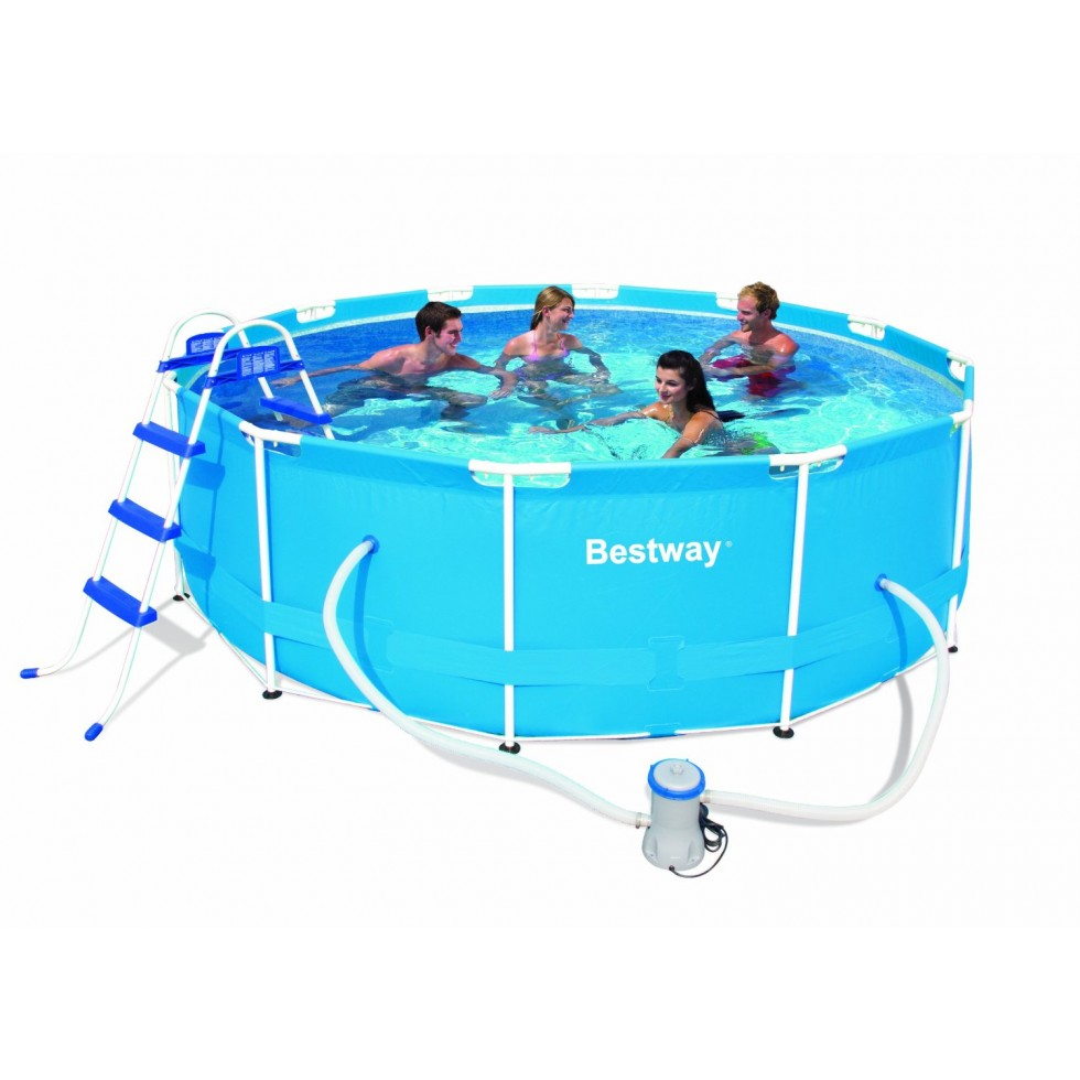Bestway piscina rotonda steel pro frame x 100 con - Piscina bestway rotonda ...