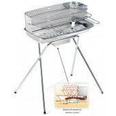 BARBECUE A CARBONELLA 60-40 INOX