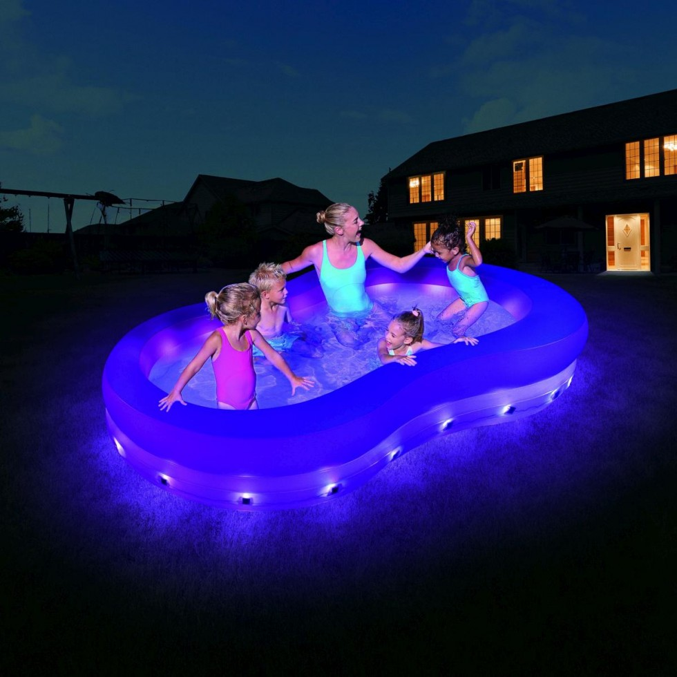 Bestway piscina family color wave con luci for Piscina wave