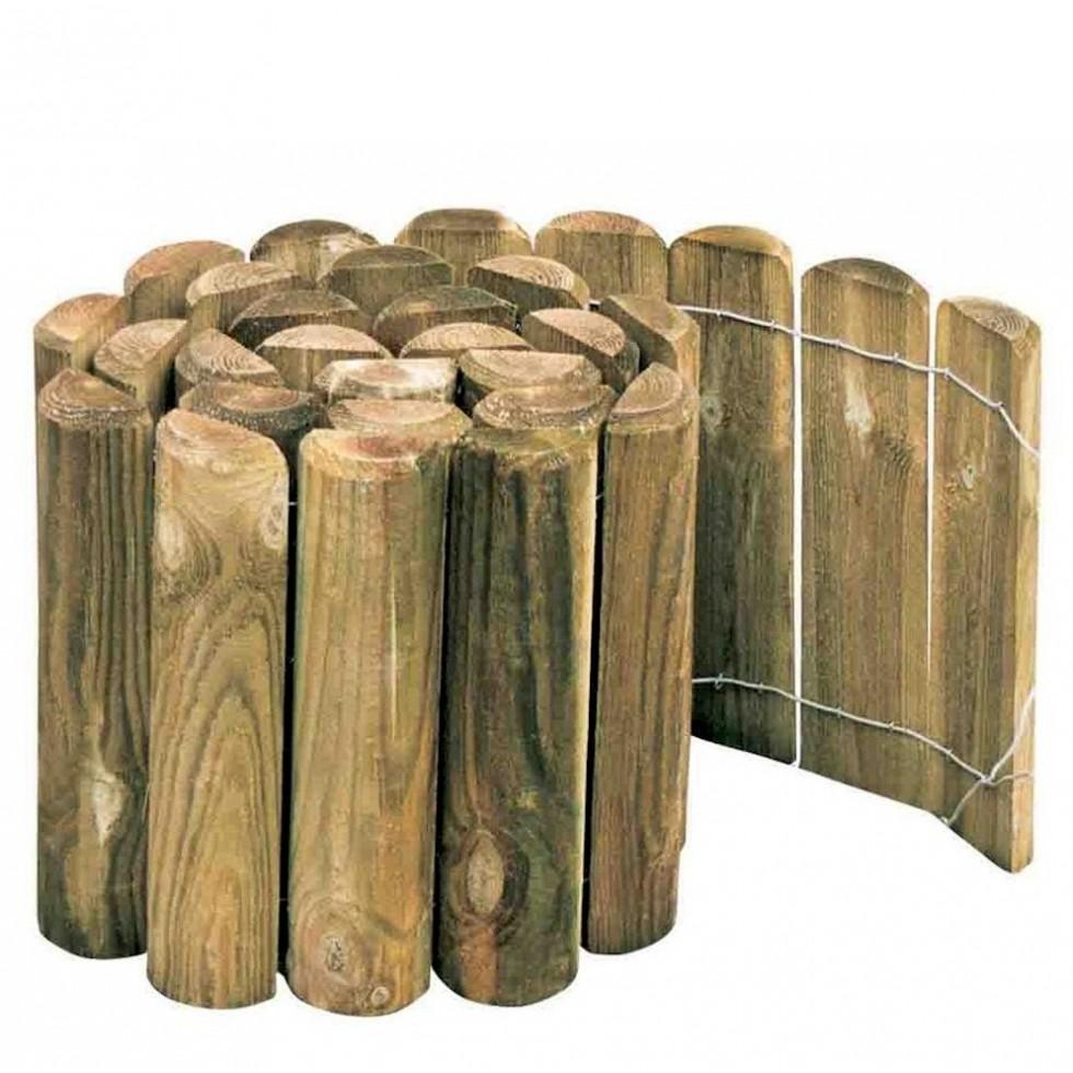 Bordura rolly in legno impregnato per recinzioni lunghezza - Recinzioni in legno per giardino ...