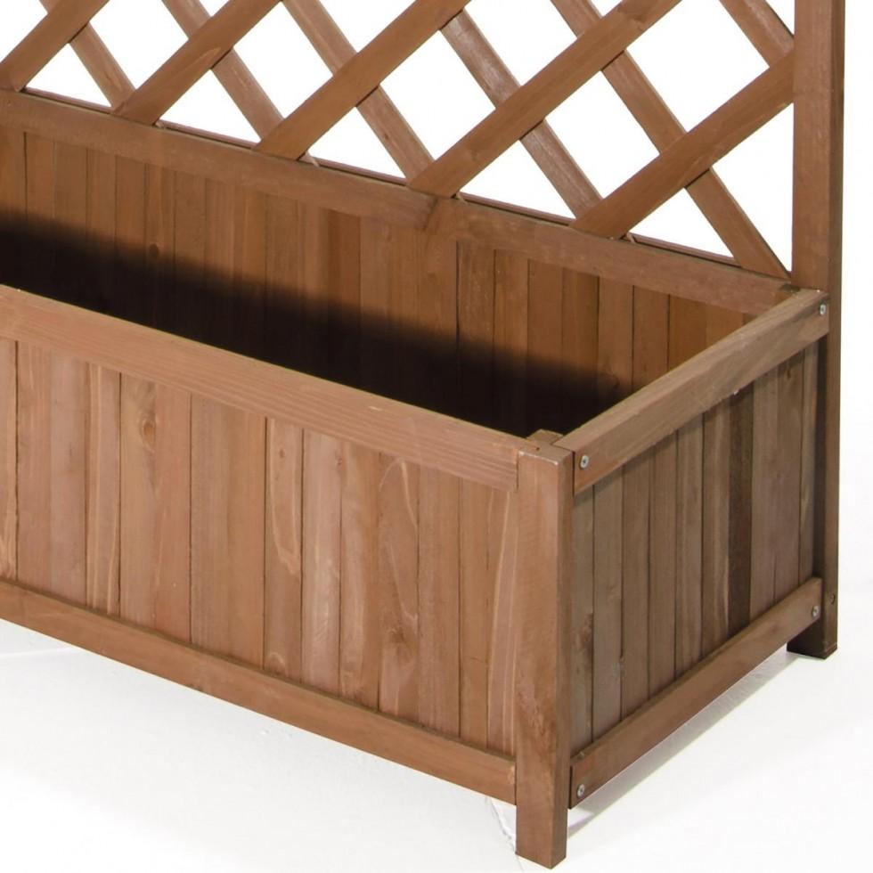 Fioriera in legno con spalliera harmony big - Fioriere in legno leroy merlin ...