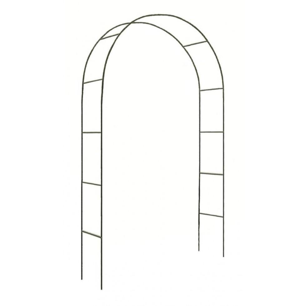 Arco trionfo in ferro x rampicanti 240x140x38 for Tralicci leroy merlin