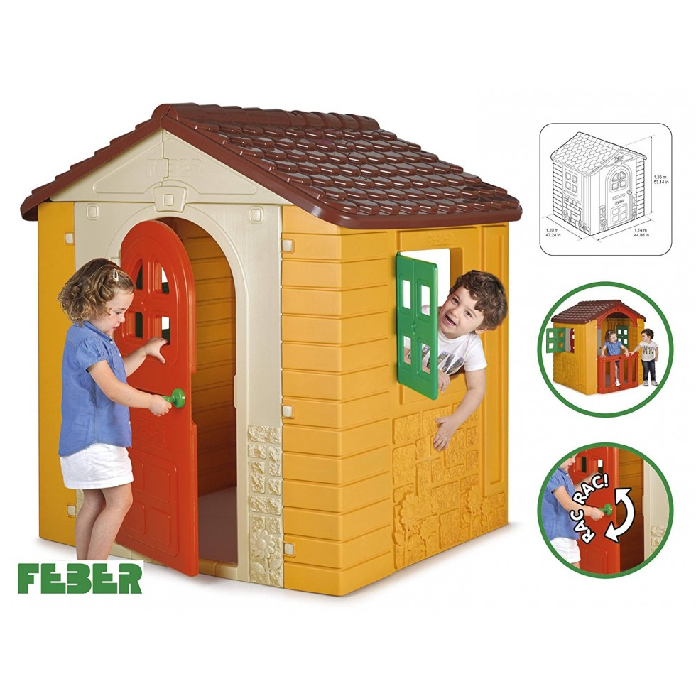 Famosa casetta da gioco wonder house feber - Casetta da giardino per bambini feber ...