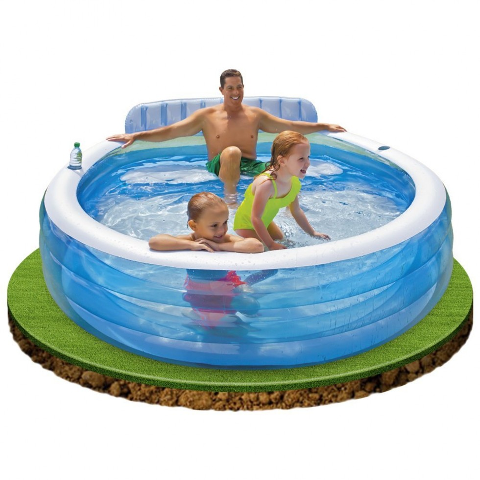 Intex piscina gonfiabile family con poltrona for Intex piscine