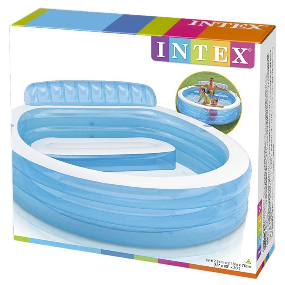 Intex piscina gonfiabile family con poltrona - Piscina intex gonfiabile ...