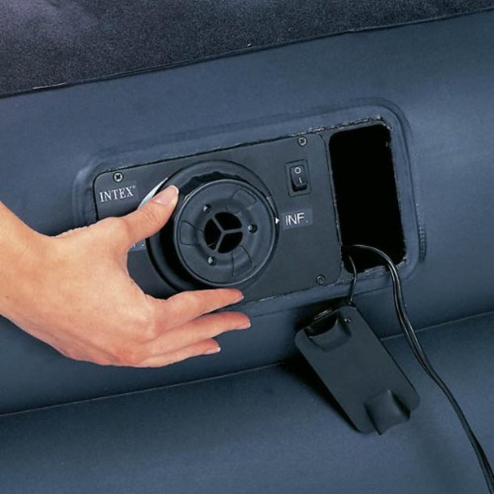 Intex materasso comfort q con pompa - Matelas gonflable avec pompe electrique integree ...