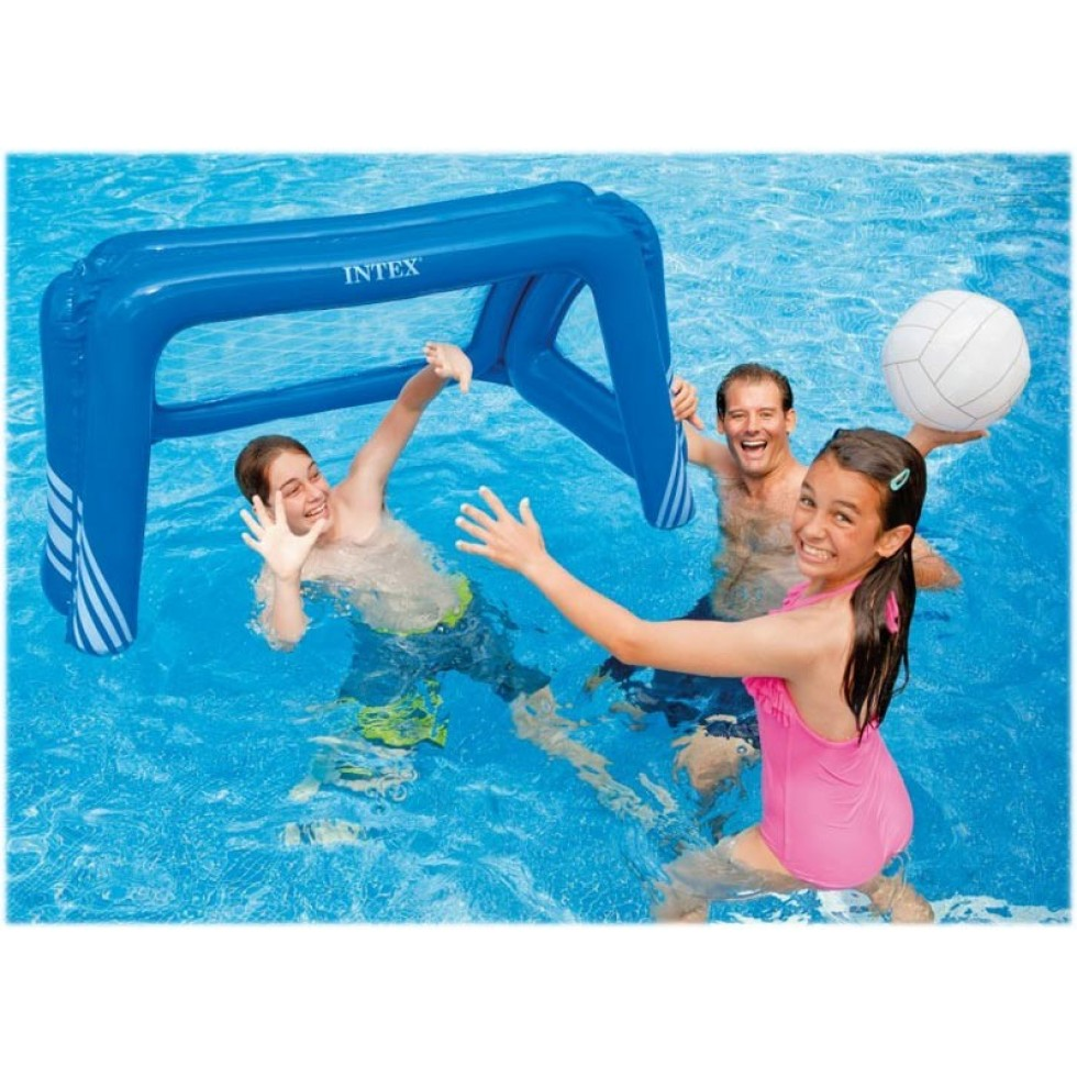 Intex porta da calcio e pallanuoto gonfiabile per piscina for Intex accessori
