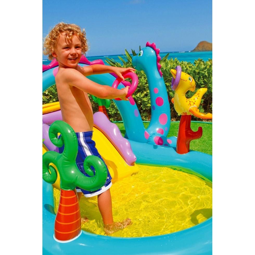 Intex piscina dinoland play center x 229 for Piscine dinosaure