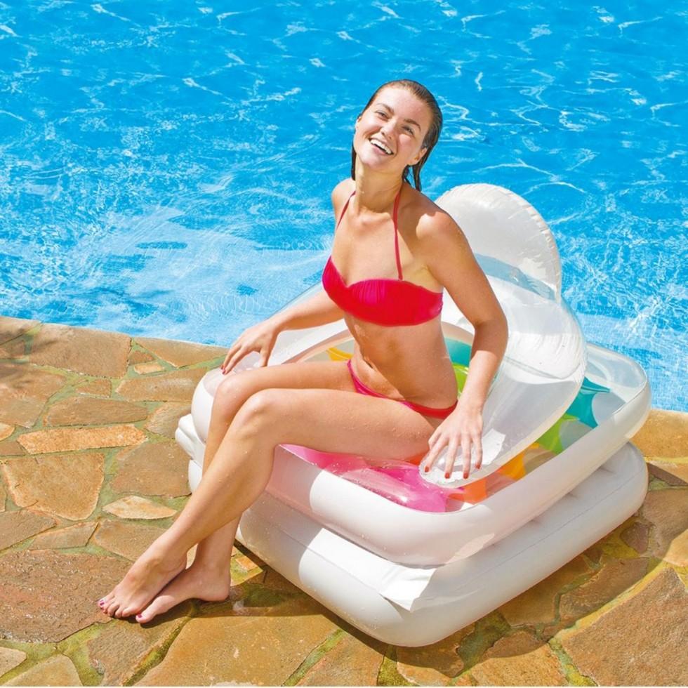 Intex materassino gonfiabile trasparente 18 buchi for Accessori per piscine intex