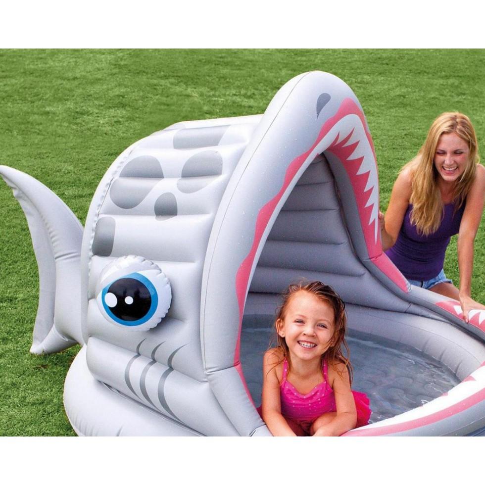 Intex piscina gonfiabile squalo con parasole x 198 x 109 articolo outlet - Gonfiabili con piscina ...