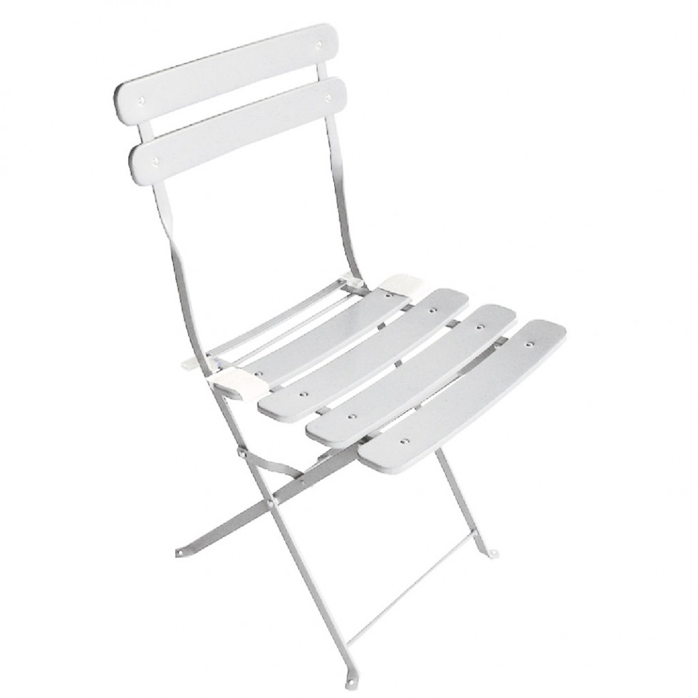 Moia sedia bistro 39 in ferro avorio pieghevole for Arredo da giardino in ferro