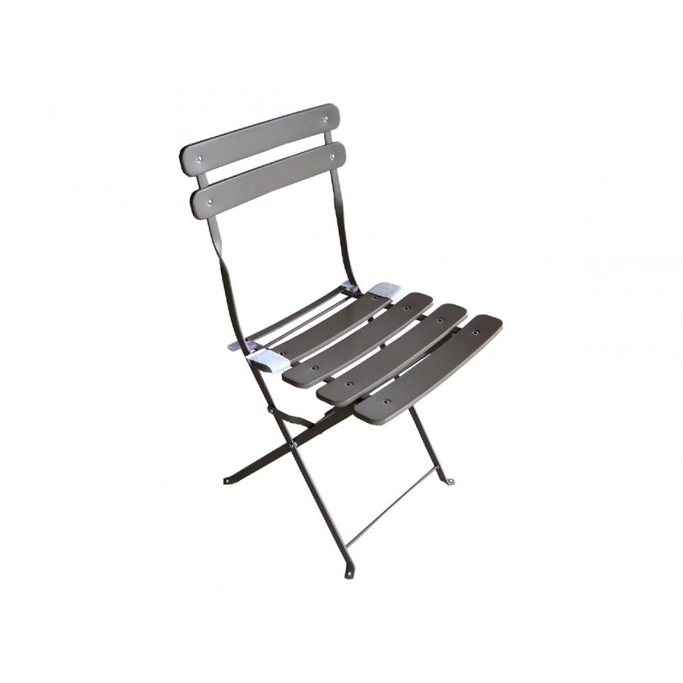 Moia sedia bistro 39 in ferro tortora pieghevole for Arredo da giardino in ferro