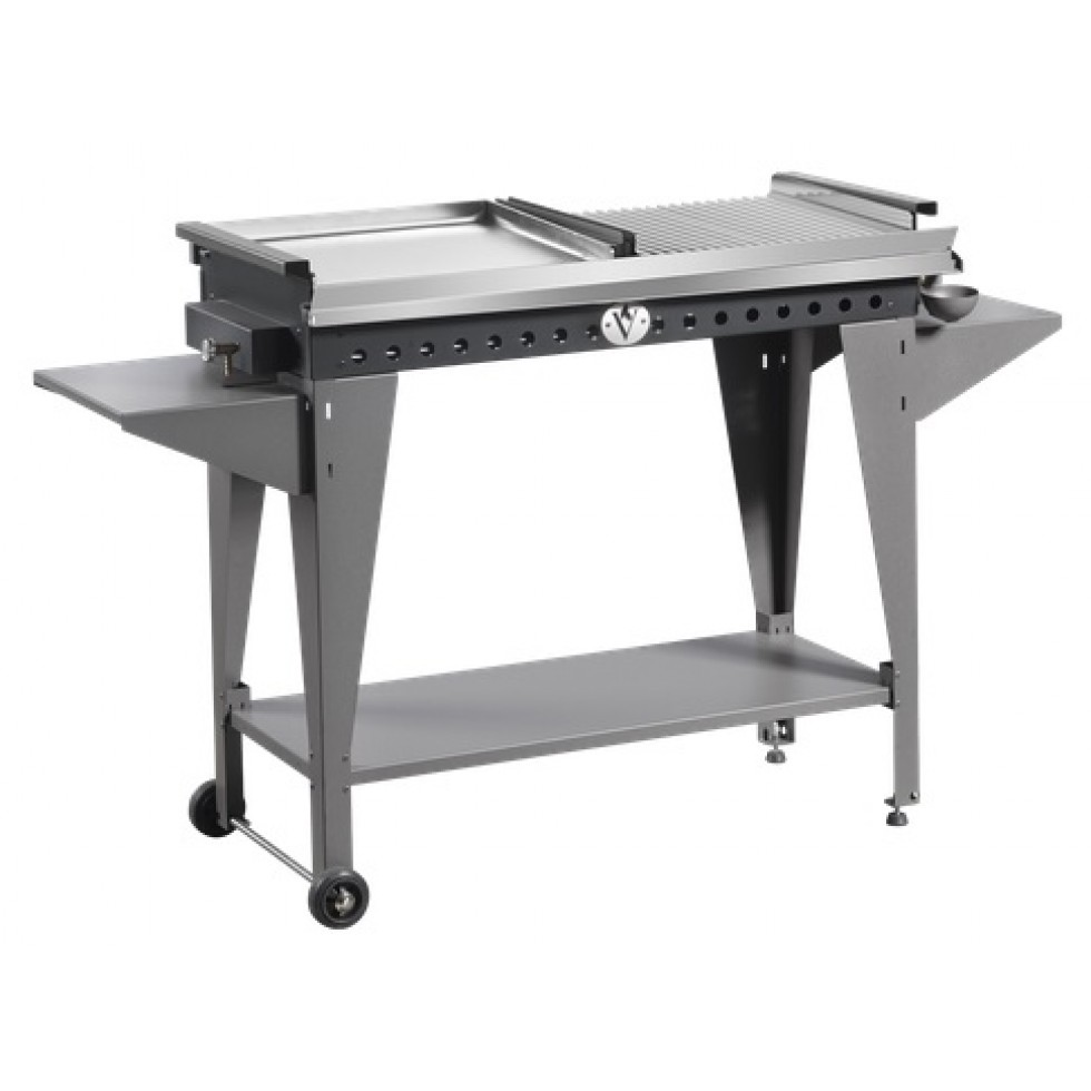Barbecue vulcano a gas doppia piastra inox for Giordano shop barbecue a gas