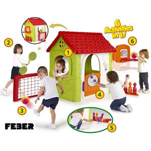 Famosa 800012606 - FEBER MULTI-ACTIVITY HOUSE 6 IN 1 Feber