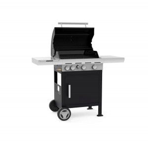 Barbecook - BARBECUE A GAS SPRING 3212 - 3 FUOCHI CON CAPPA FORNO +FORNELLO LATERALE