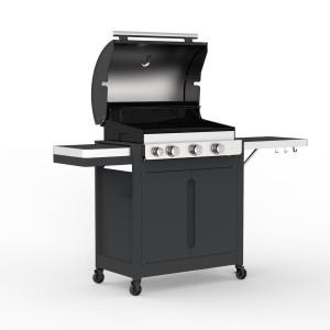 Barbecook - BARBECUE A GAS STELLA 3221- 3 FUOCHI CON CAPPA FORNO E FORNELLO LATERALE
