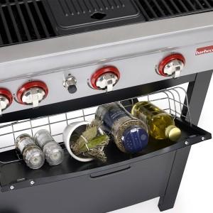 Barbecook - BARBECUE A GAS SPRING 340 - 3 FUOCHI CON CAPPA FORNO E FORNELLO LATERALE