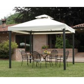 GAZEBO RETT. 3X3 CON TENDE LATERALI