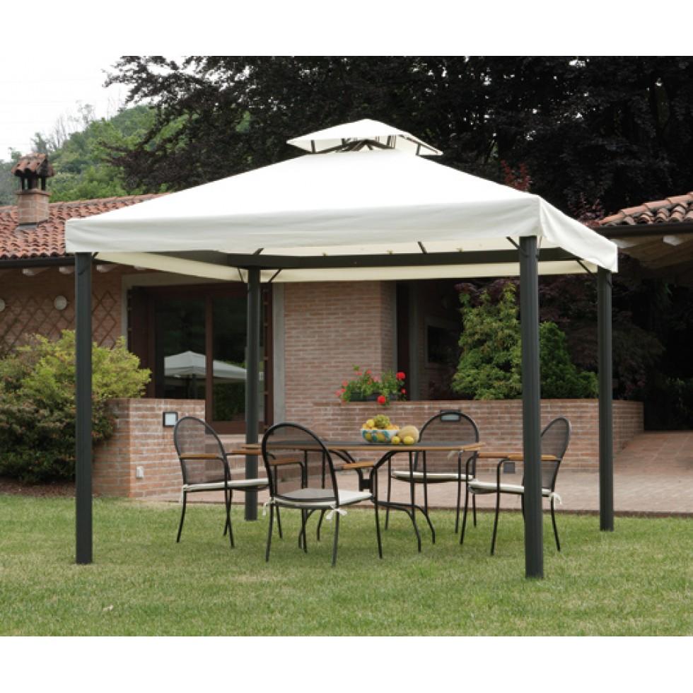 Gazebo 3x3 con tende laterali for Gazebo arredo giardino