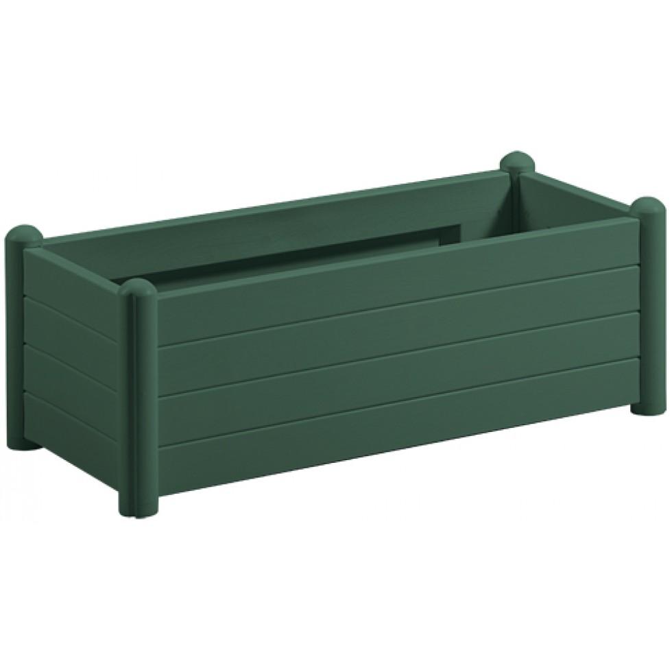 Fioriera rettangolare verde bellitalia h 35 for Fioriere in plastica rettangolari