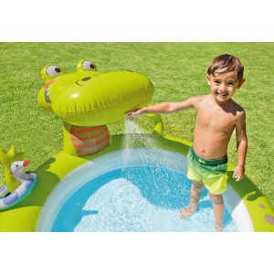 INTEX PISCINA ALLIGATORE CON SPRUZZO CM.198X160X91