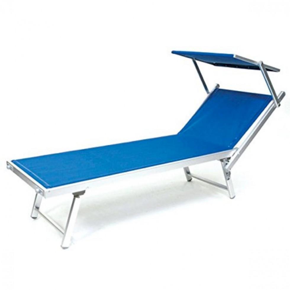 Lettino rimini con parasole blu for Arredo giardino rimini