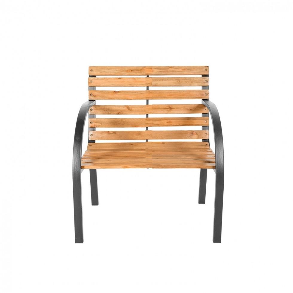 Sedia new york in ferro e doghe legno for Giardino 54 nyc