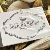 STENCIL SALA DA BAGNO