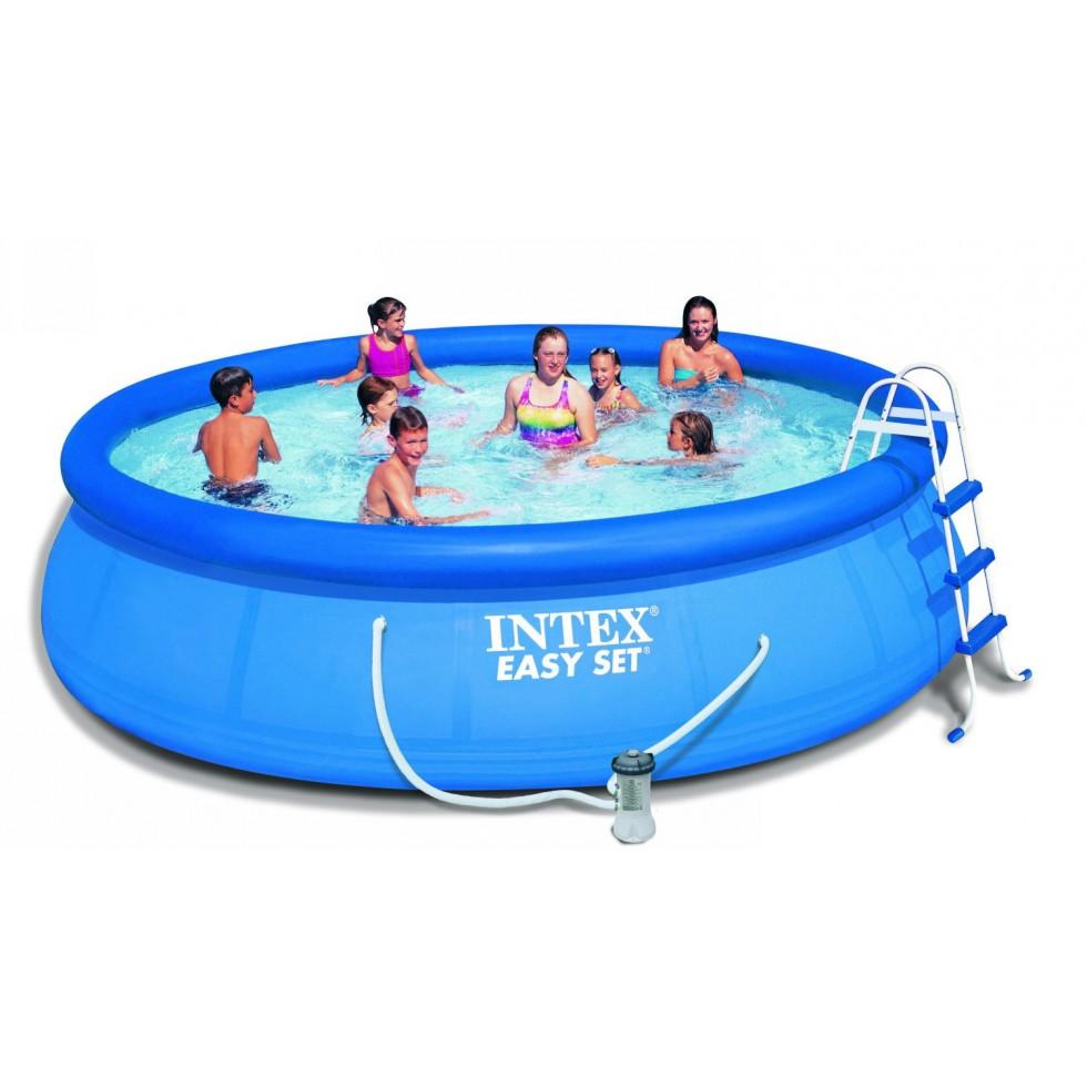 Intex piscina easy set x 122 anello gonfiabile con - Piscina intex gonfiabile ...