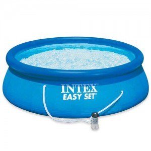 INTEX PISCINA EASY SET CM.305 X 76 ANELLO GONFIABILE CON POMPA FILTRO