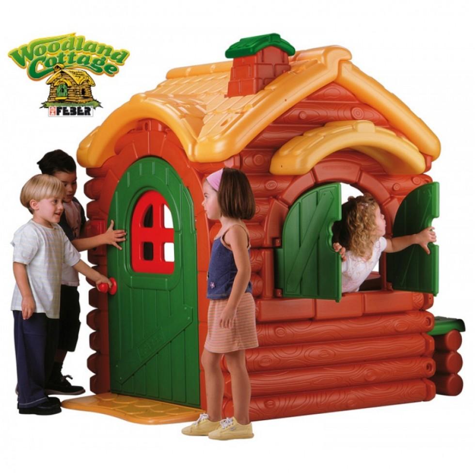 Famosa 800002884 woodland cottage feber casetta da gioco for Casette per bambini