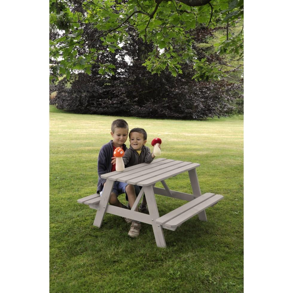 New plast tavolino pic nic per bambini legno for Tavolino per bambino